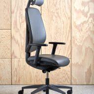 Giroflex 353 swivel chair with a headrest