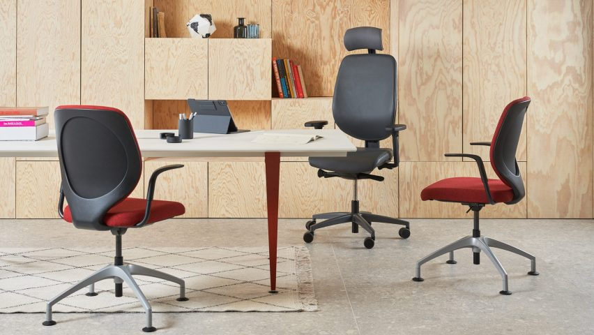 Giroflex 353 Swivel and Conference chairs in an office