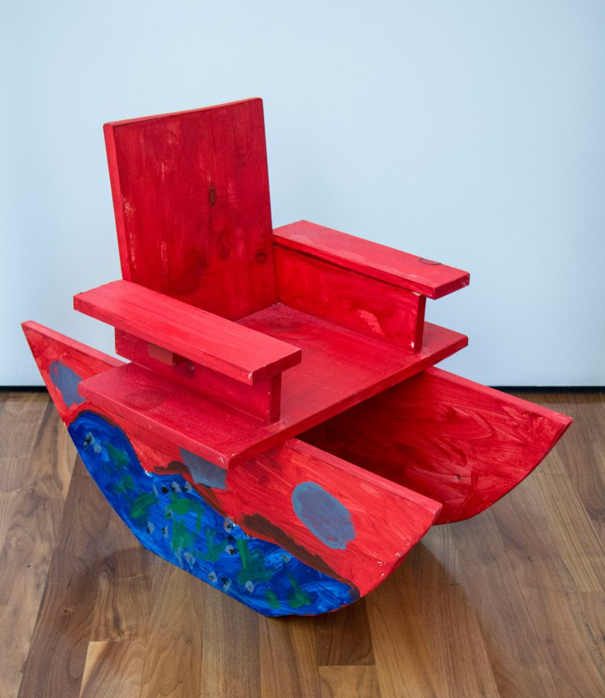 Boat-shaped seating design from Bruce Edelstein's workshop at Trinity School