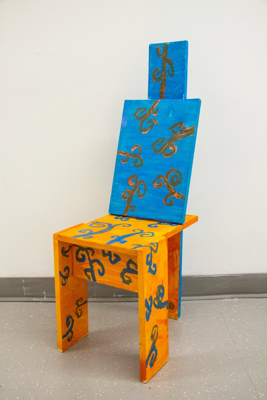 Blue and Orange seating design from Bruce Edelstein's workshop at Trinity School