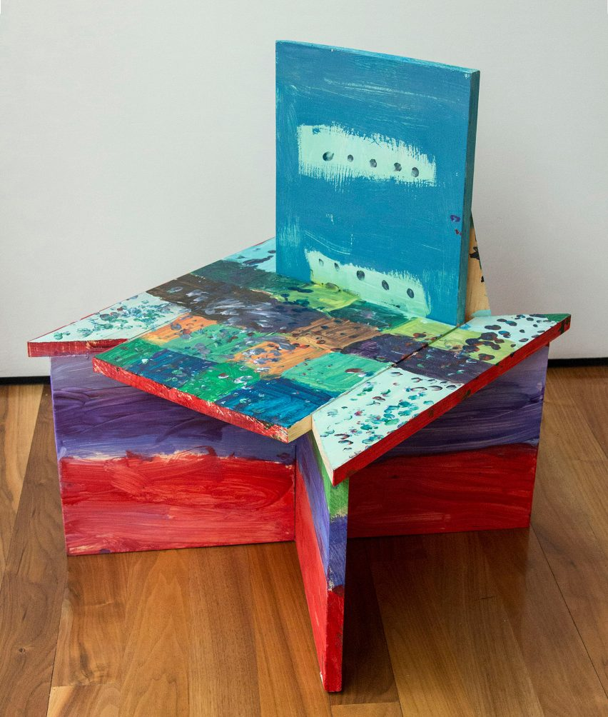 Colourful seating design from Bruce Edelstein's workshop at Trinity School