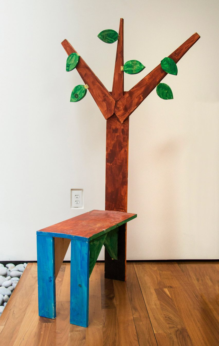 Tree-shaped seating design from Bruce Edelstein's workshop at Trinity School