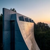 The concrete roof of the Chapel and Meditation Room