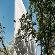 The concrete facade of a chapel by Nicholas Burns