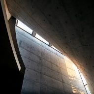 The concrete ceiling of chapel