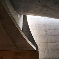 Concrete interiors of a chapel by Nicholas Burns