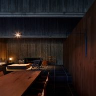 A dark living room in a Japanese house