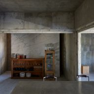 The concrete interiors of House T in Japan