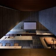 The concrete interiors of House T by Suppose Design Office