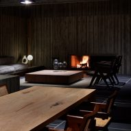 The living room of House T by Suppose Design Office
