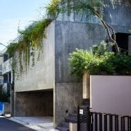 "House T by Suppose Design Office is a ""cave-like"" concrete house in downtown Tokyo"