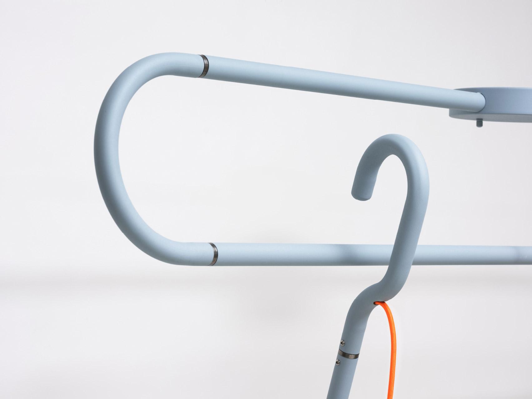 Bent steel creates a hook mechanism