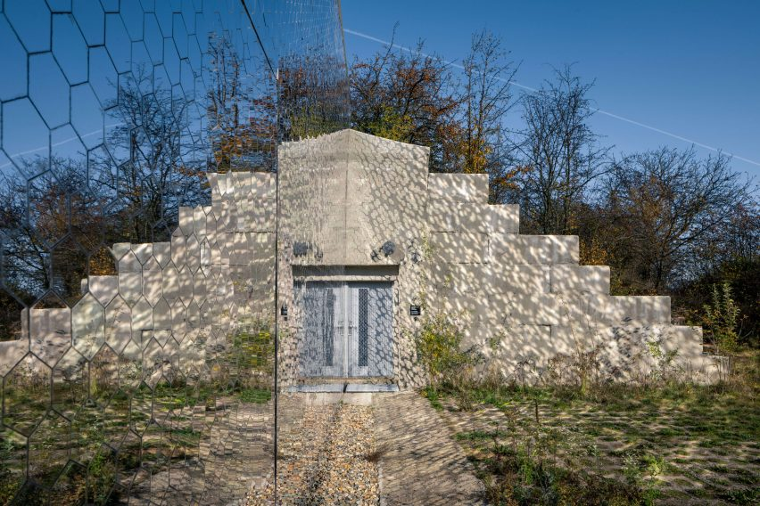 Bunker with mirrored facade