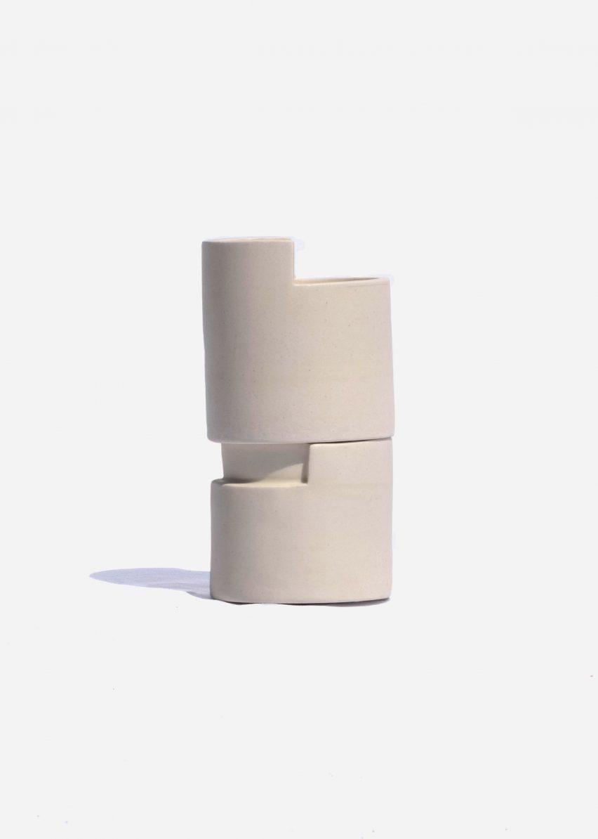 Lleig ceramic skincare vessel by Julia Roca Vera