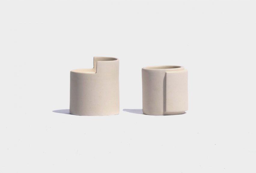 Lleig ceramic skincare vessels by Julia Roca Vera