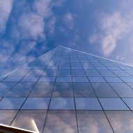 A curtain wall of the Key Bank Plaza office by Perkins and Will