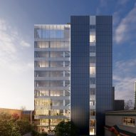A visual of the renovated Key Bank Plaza in Alaska by Perkins and Will