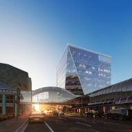 The glacier-like Key Bank Plaza office by Perkins and Will
