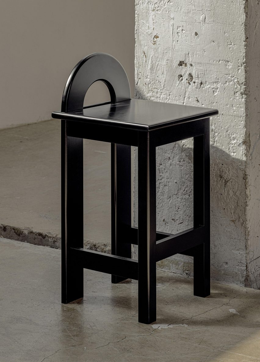 High U Stool from the Korean Art Deco collection