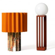 Colourful Plissé lamp and Libreria lamp