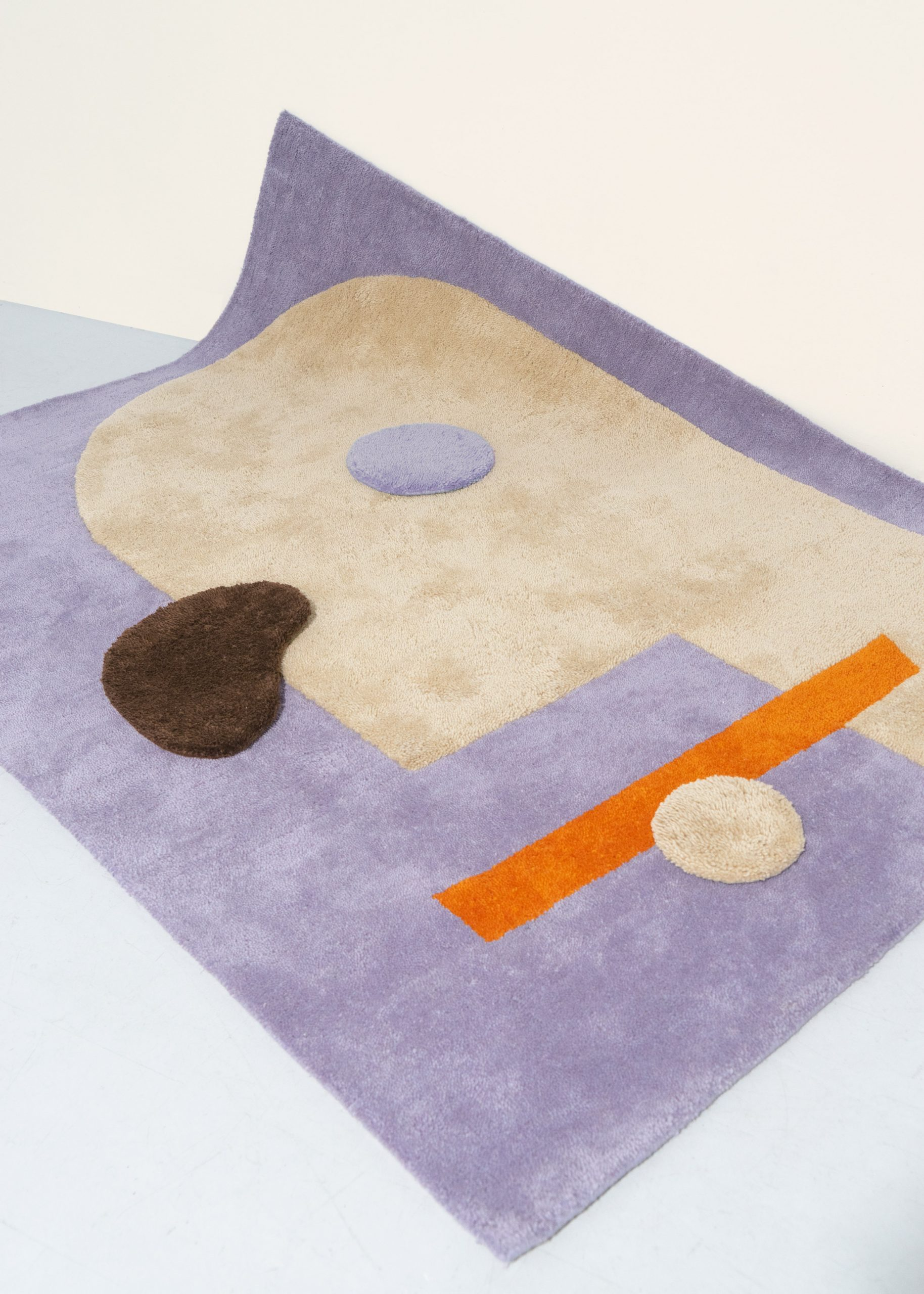 Lilac Playground rug from Petite collection by Layered