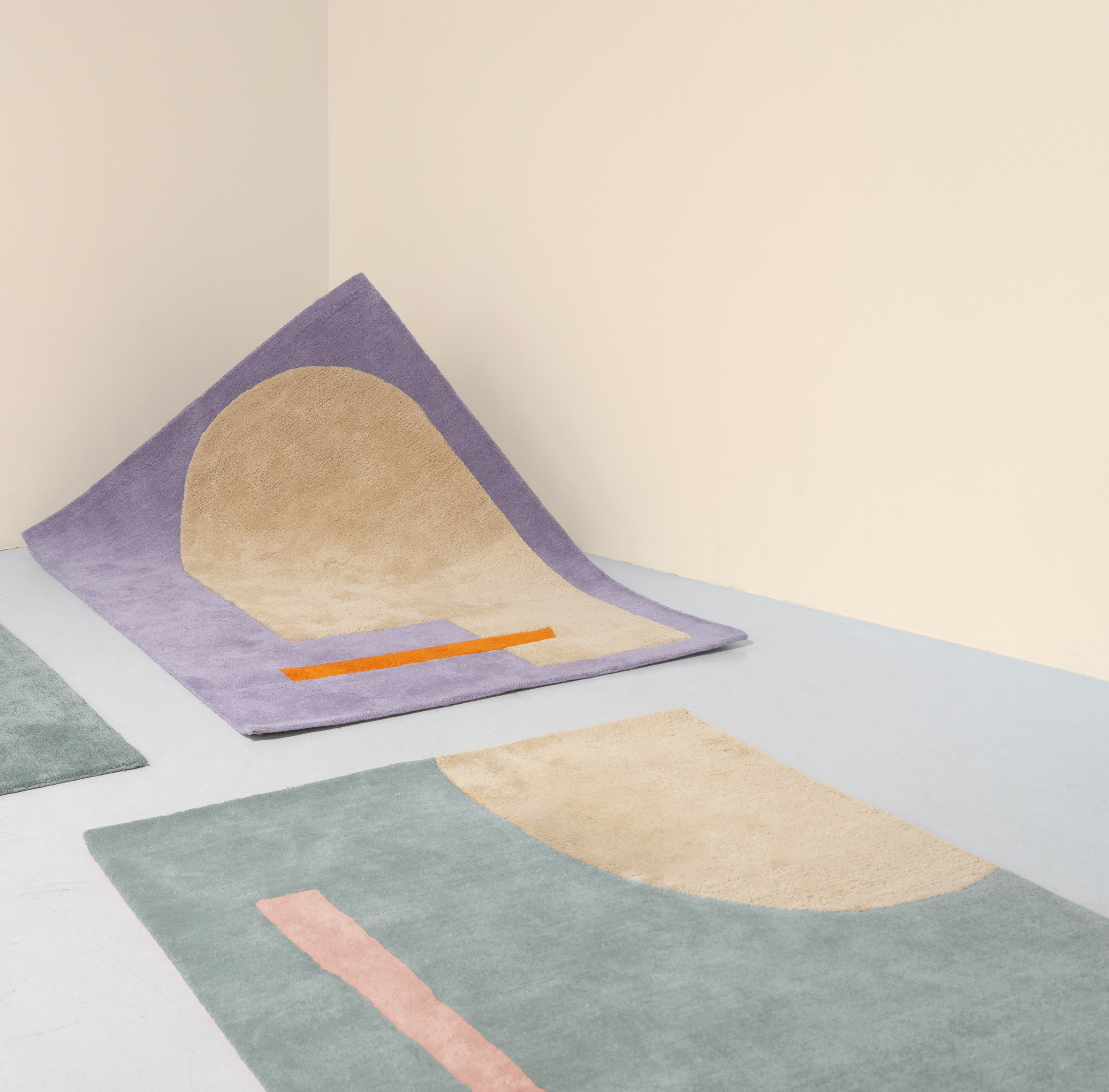 Playground and Canvas rugs from the Petite collection