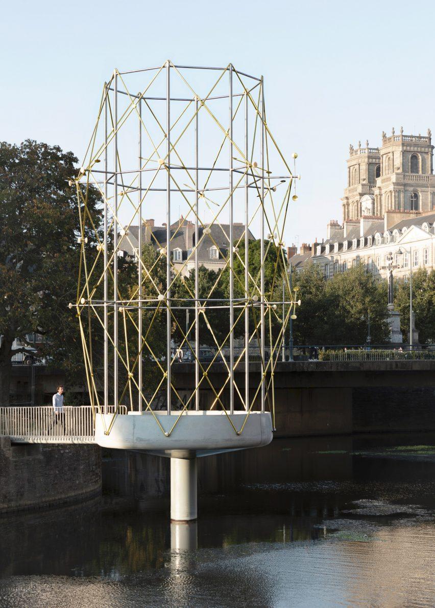 Le Belvédère folly in river Vilaine