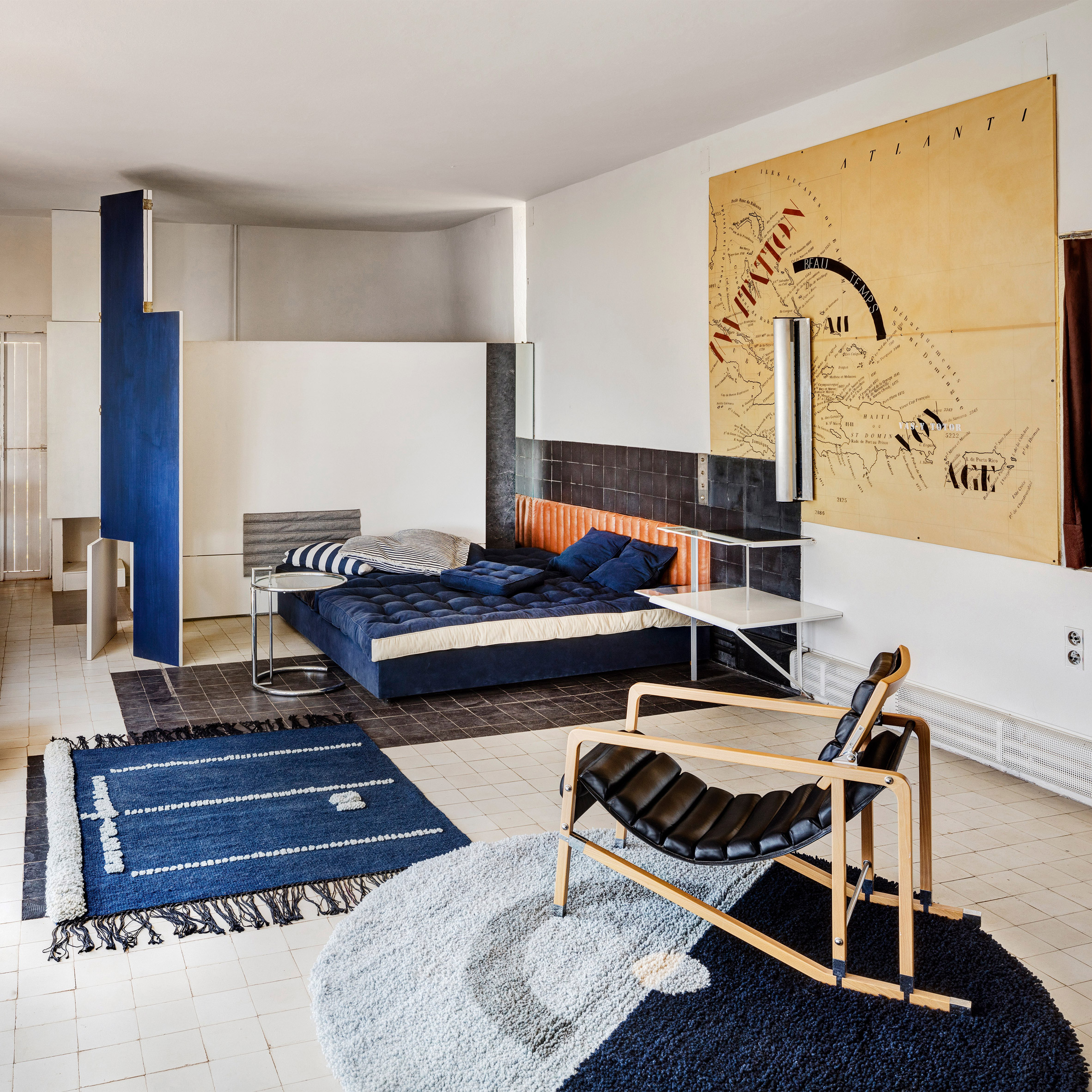 The living area of Eileen Gray's house