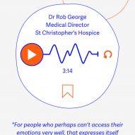 An audio clip from an expert