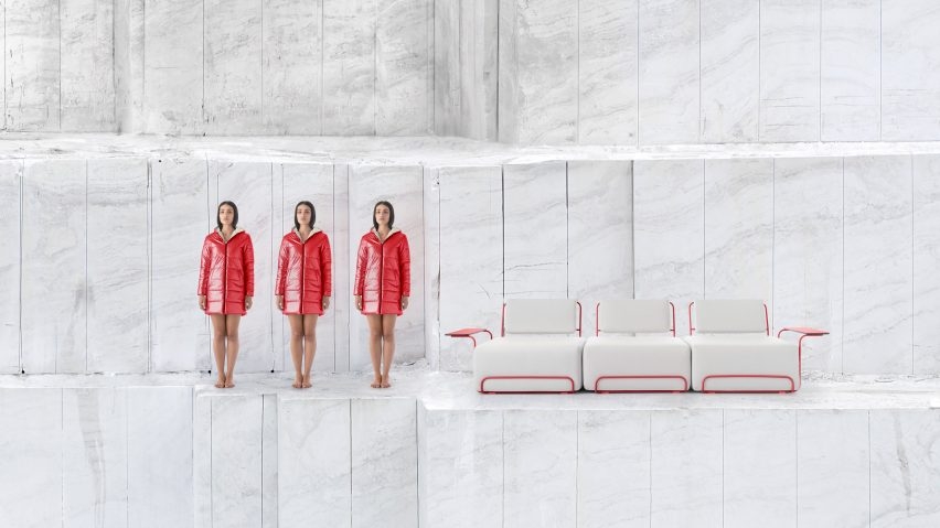 Lilly collection by Democràcia Estudio for Diabla in white and red