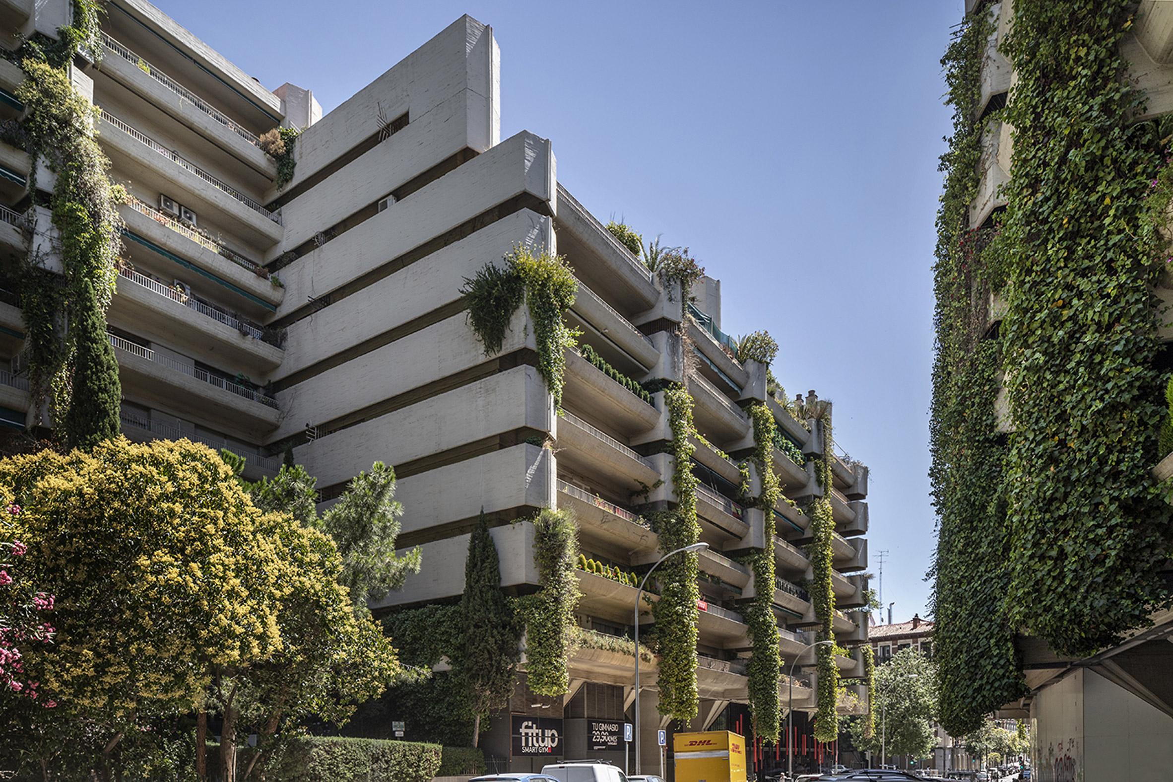 Green balconies at Edificio Princesa