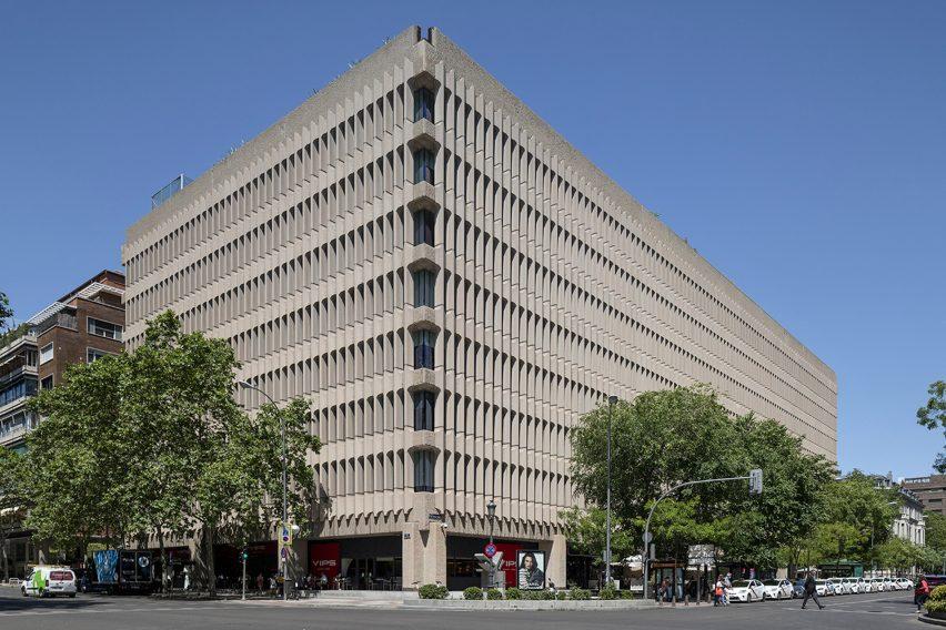 Madrid's brutalist architecture: Beatriz building