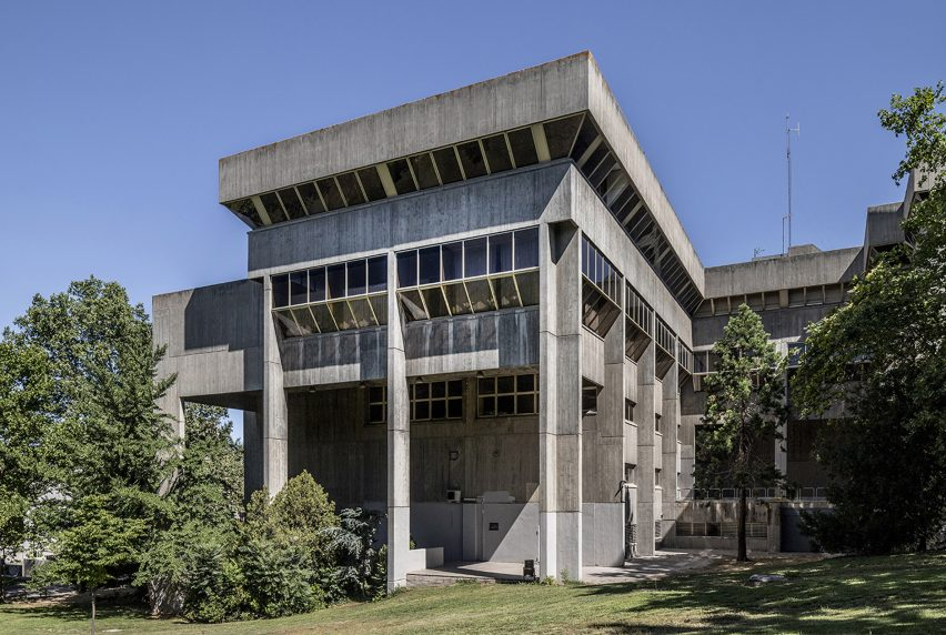 Madrid's brutalist architecture: Department of Information Sciences