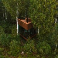 A small holiday cabin within bogland