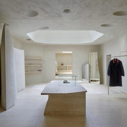 Interior of Maison Margiela's London Bruton Street store by Studio Anne Holtrop