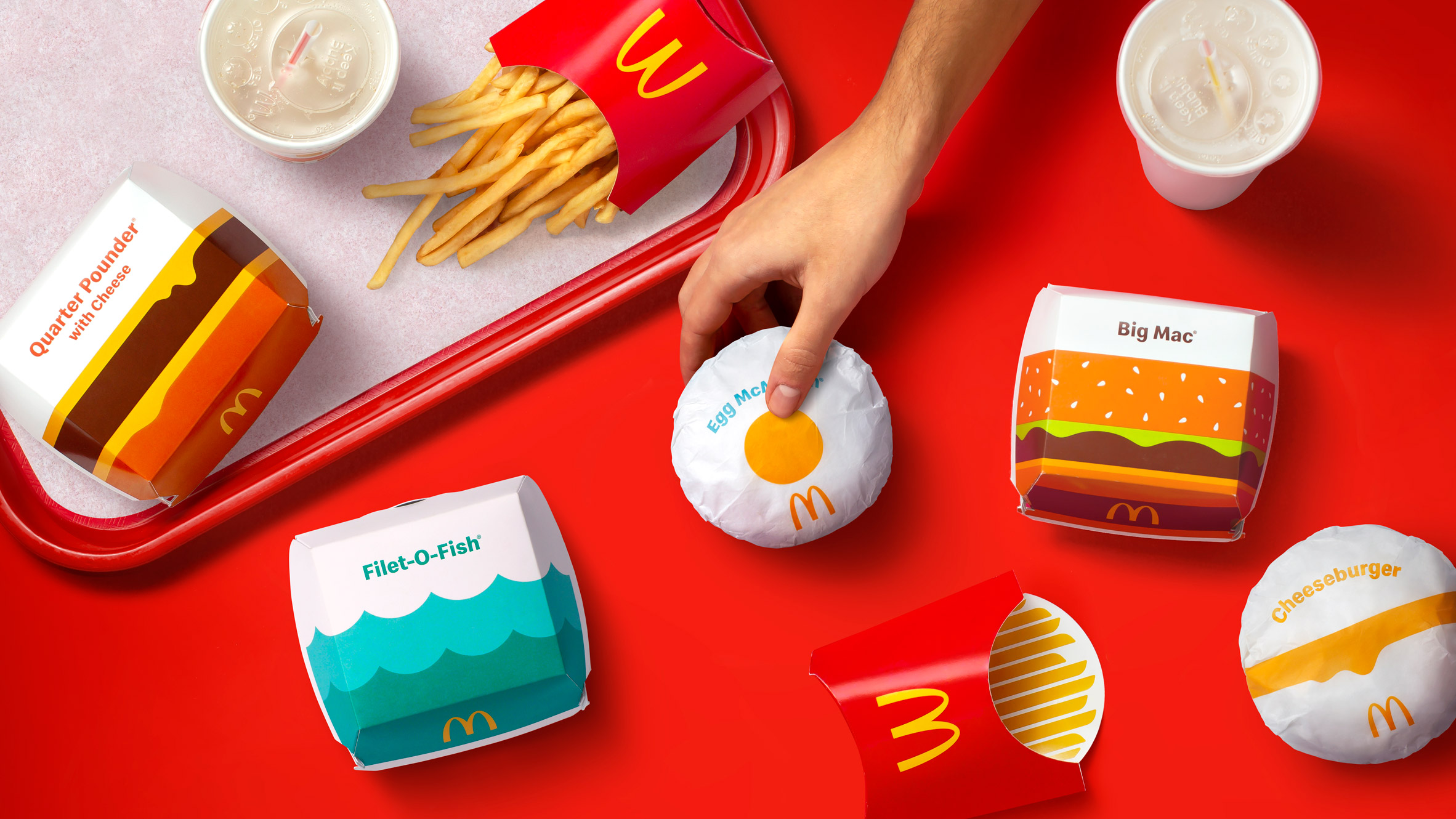 McDonald's packaging by Pearlfisher