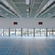 Sports court in Melopee School in Ghent by XDGA