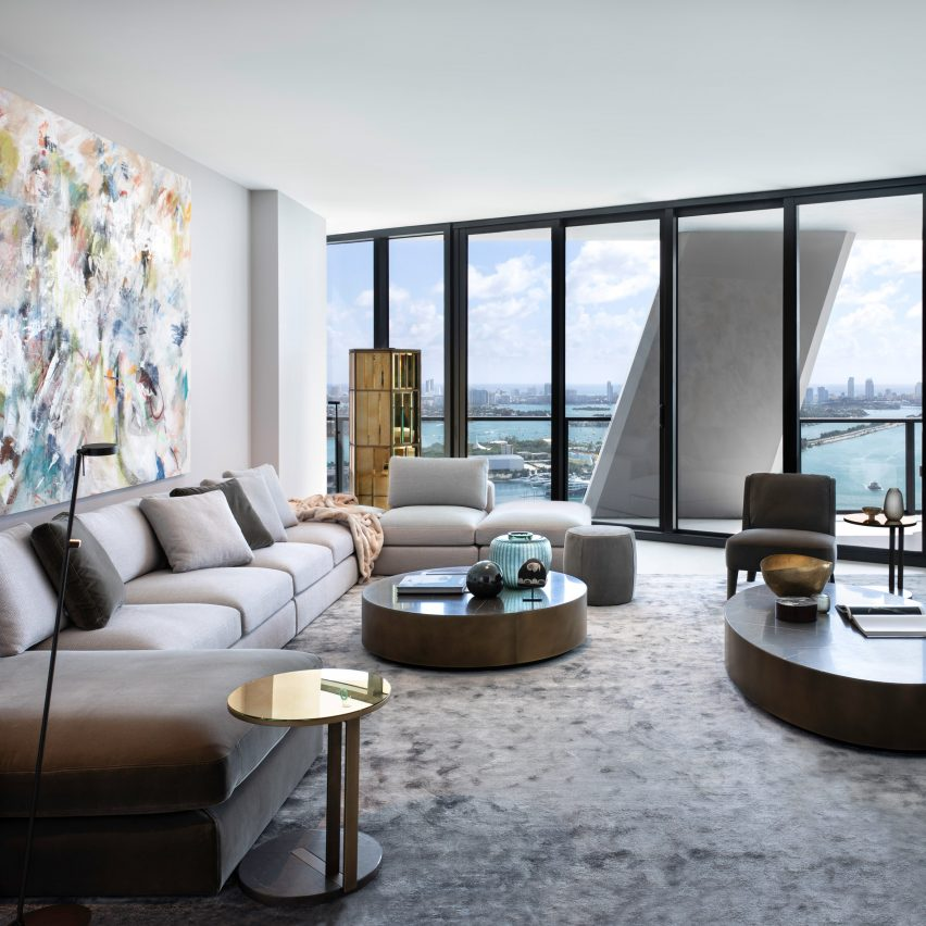 Hernan Arriaga uses Meridiani furniture to style One Thousand Museum apartment