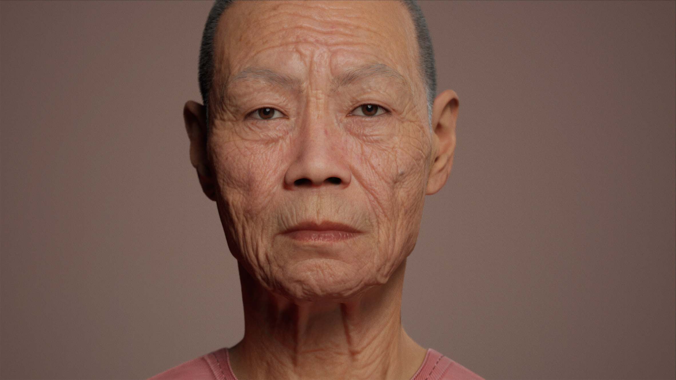 Portrait of digital human created using software by Epic Games and Unreal Engine
