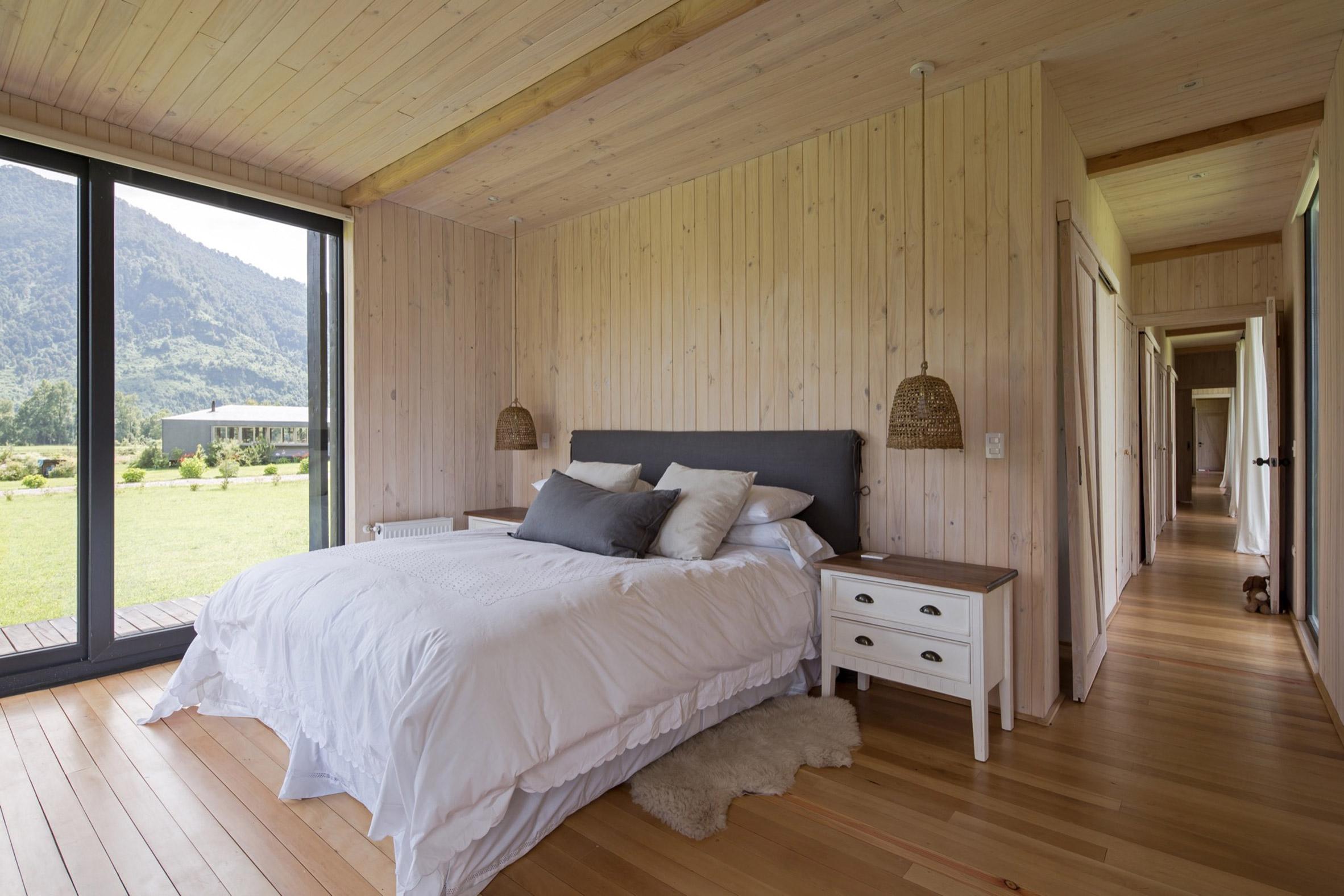 Bedroom in Casa Tobita in Lago Ranco Chile