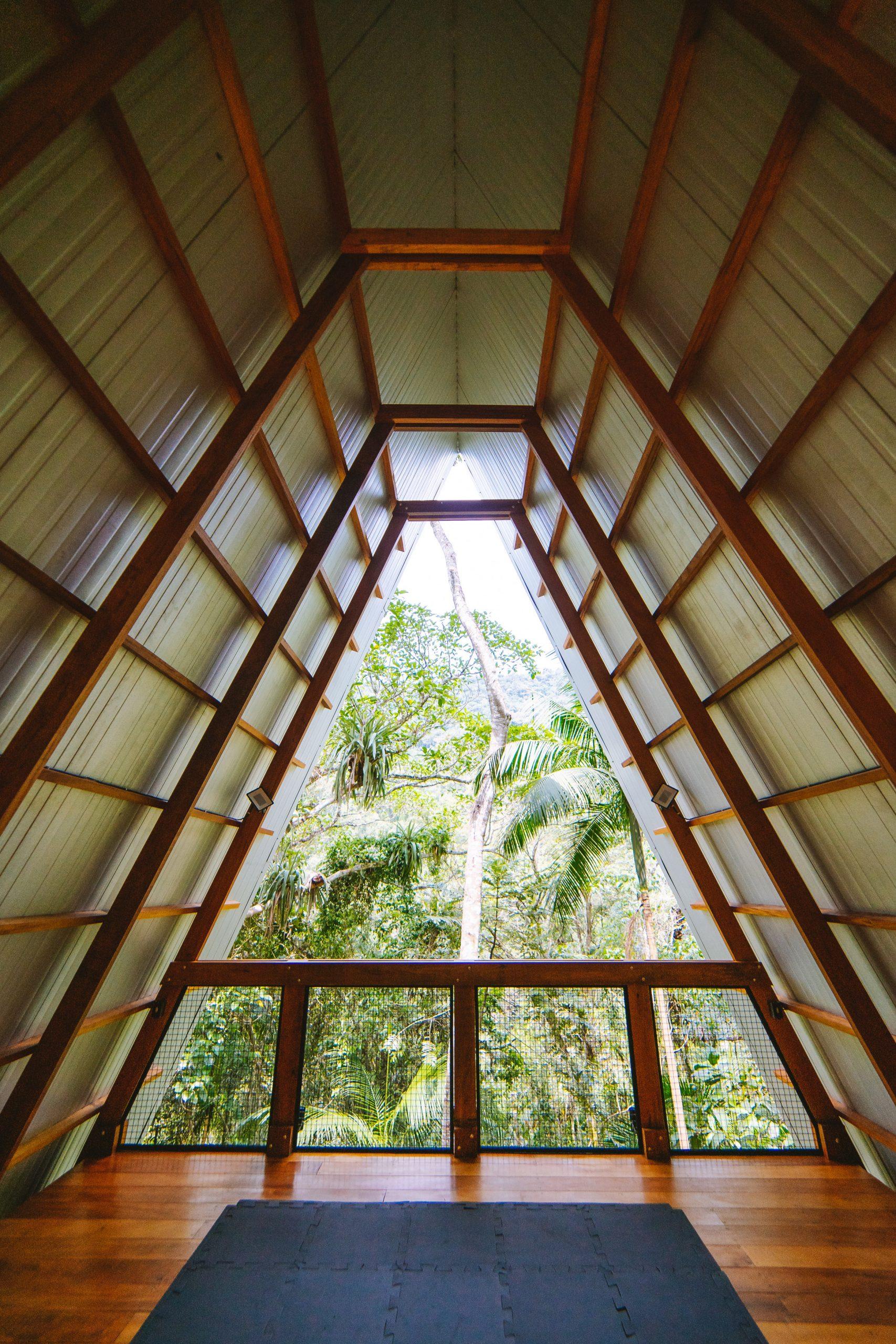 Rooftop terrace of Monkey House in Brazil
