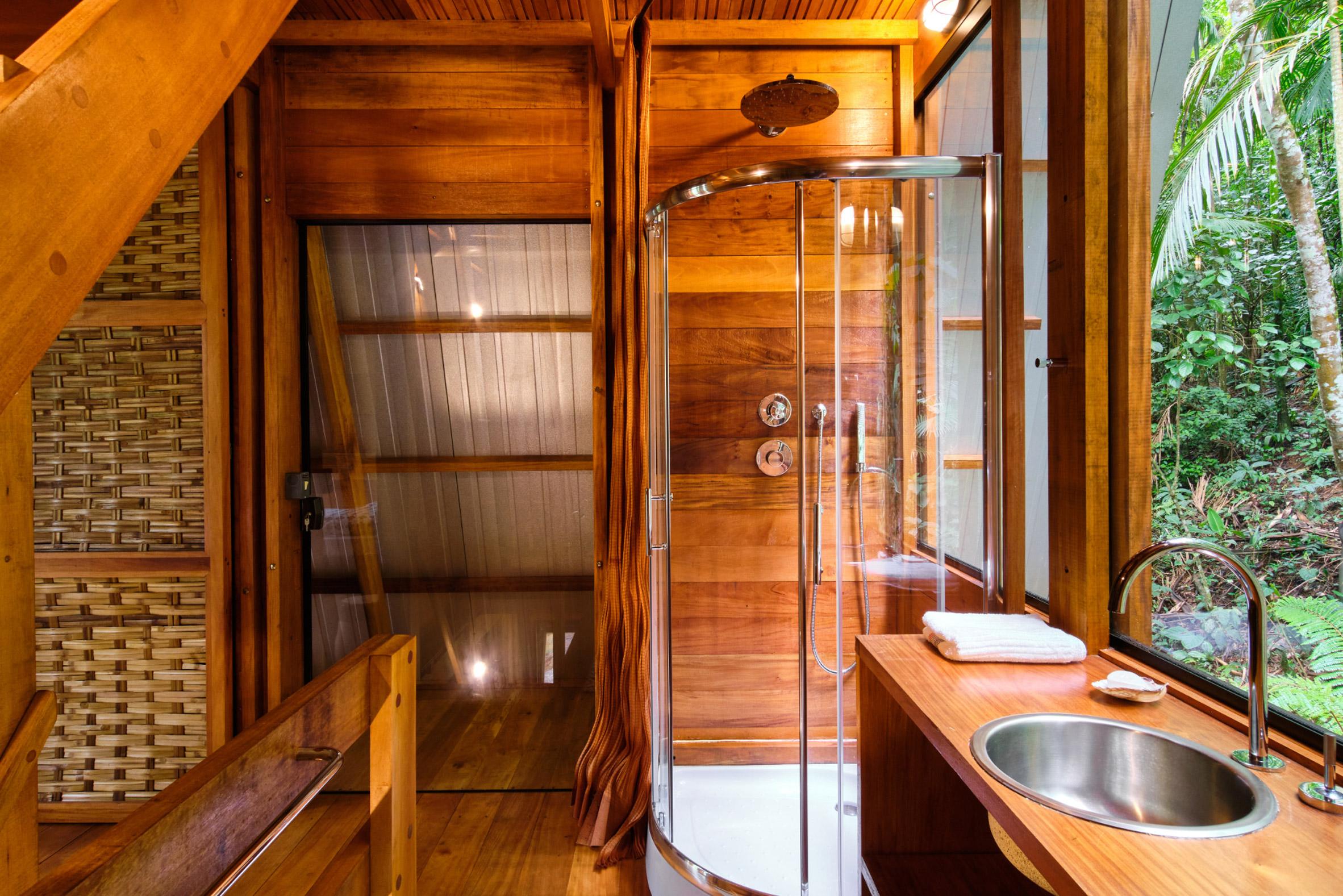 Bathroom of Monkey House cabin