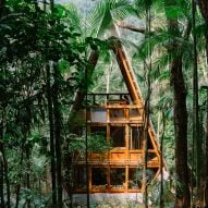 Atelier Marko Brajovic builds cabin on stilts deep within a Brazilian forest