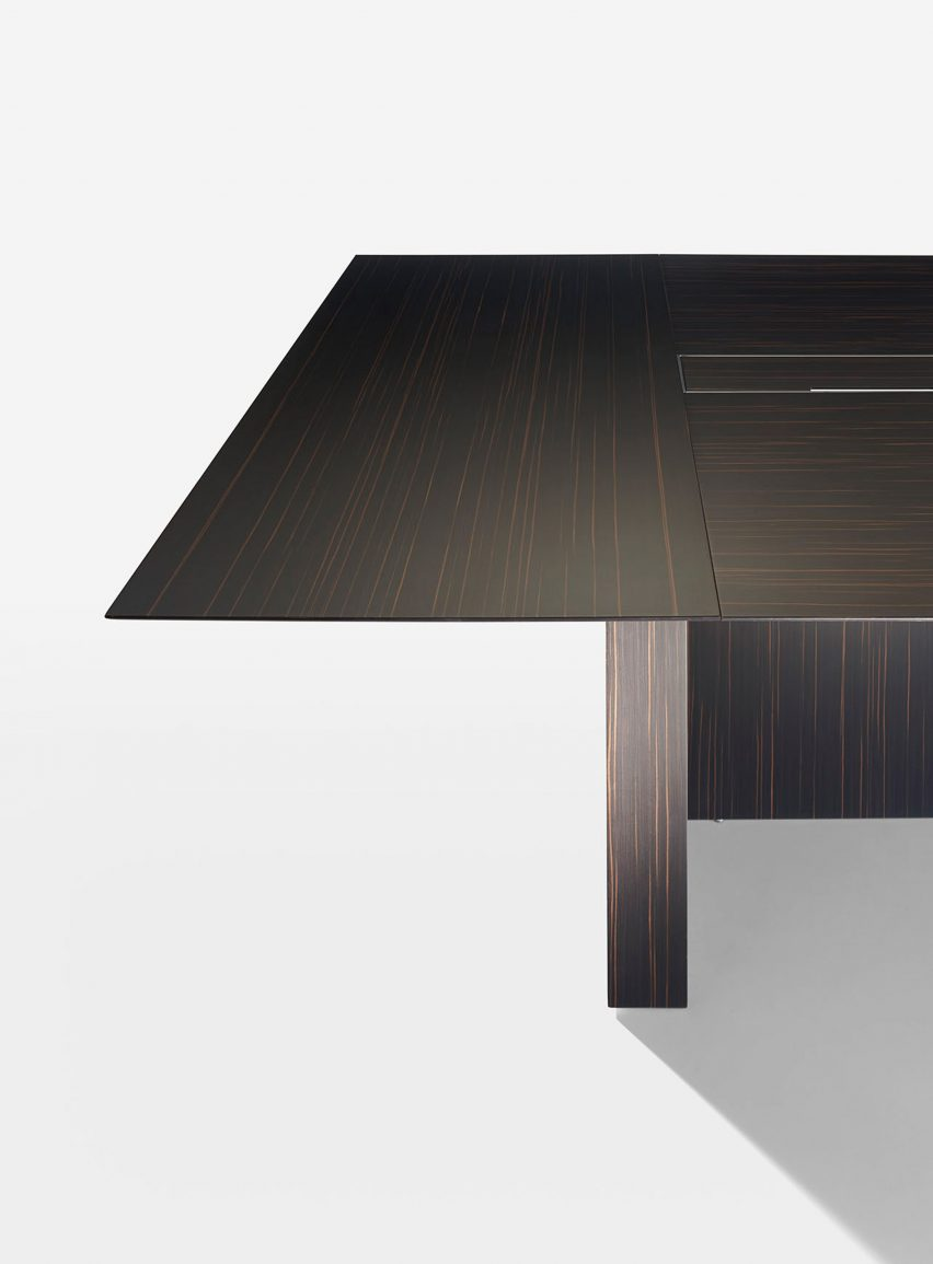 Dark wood office table