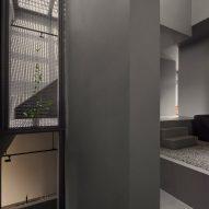 Greige walls and steel installation