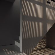 Shadow patterns on grey wall