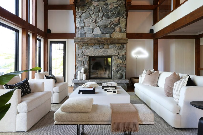The Great Room with sofas and poufs