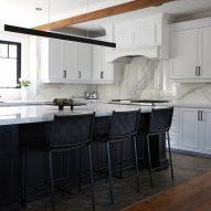 The sleek monochrome kitchen