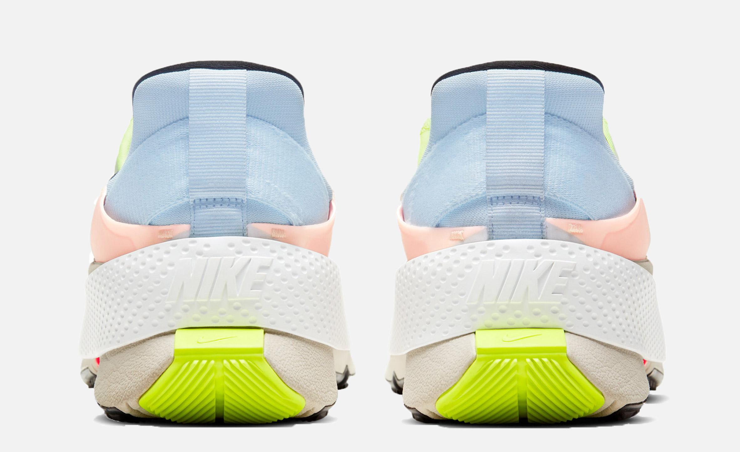 Kickstand heel in Nike trainer