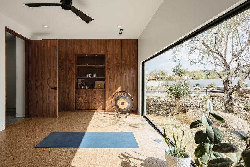 Windows of O-asis house in arizona